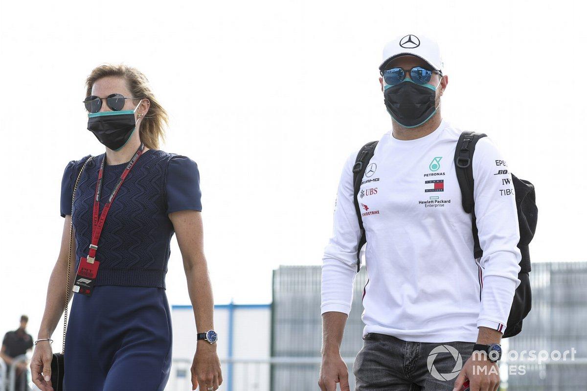 Tiffany Cromwell e Valtteri Bottas, Mercedes-AMG F1