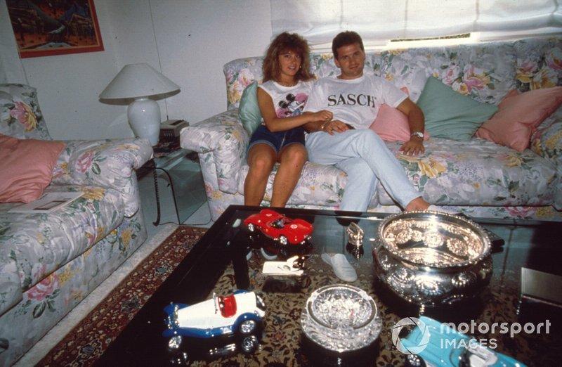 Nicola Larini with his wife