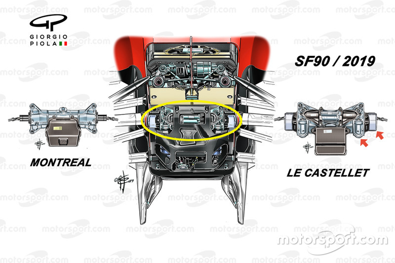 Detalle frontal del Ferrari SF90