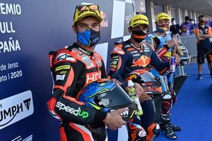 Pole Jorge Martin, Red Bull KTM Ajo, second place Jorge Navarro, Speed Up Racing, third place Sam Lowes, Marc VDS Racing