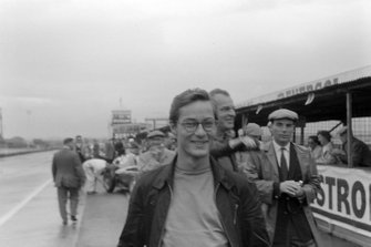 Masten Gregory with Harry Schell and Bernard Cahier