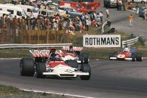 Peter Gethin, BRM P160B, Jackie Oliver, BRM P160B y Arturo Merzario, Ferrari 312B2