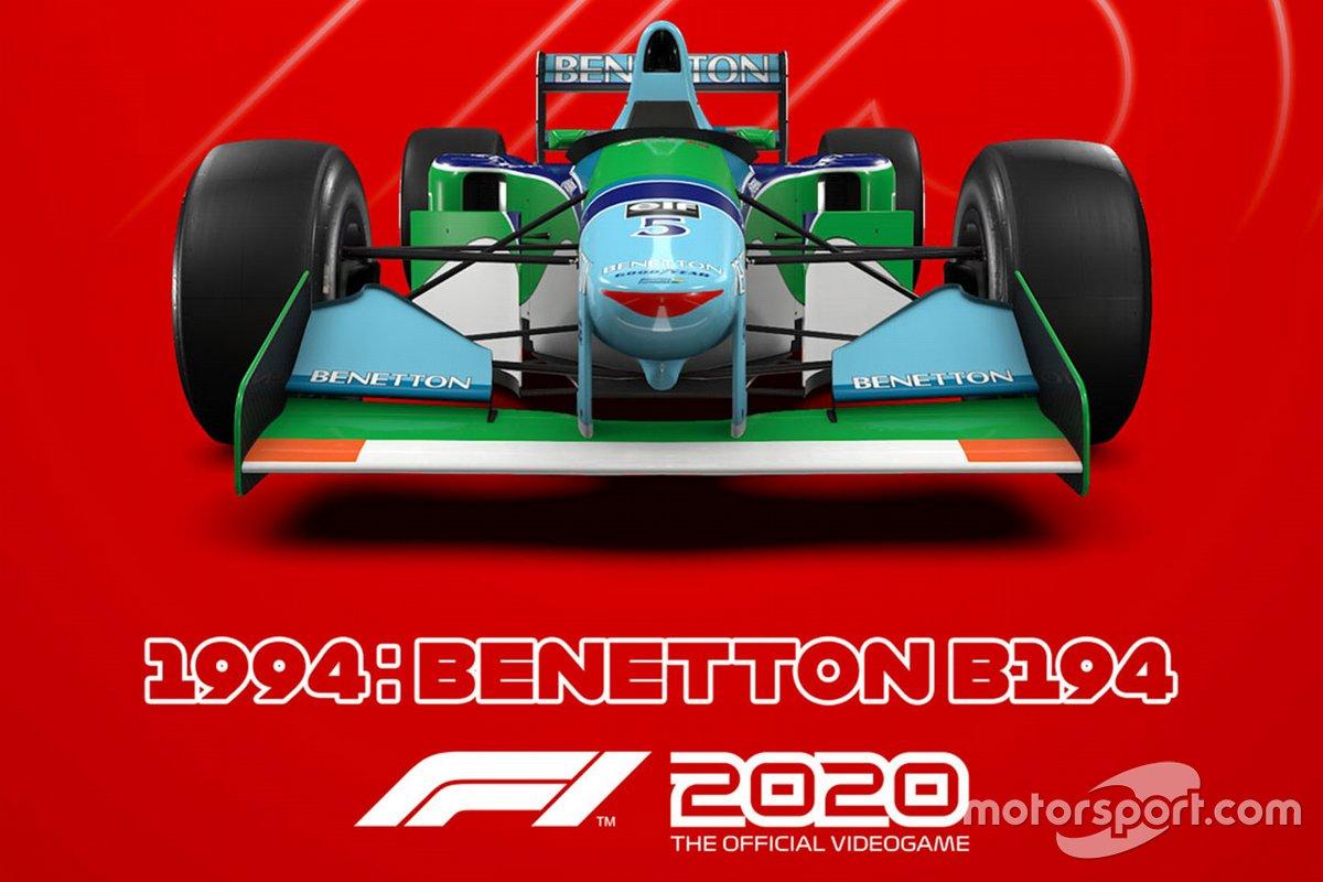 El Benetton de 1994 en 'F1 2020'