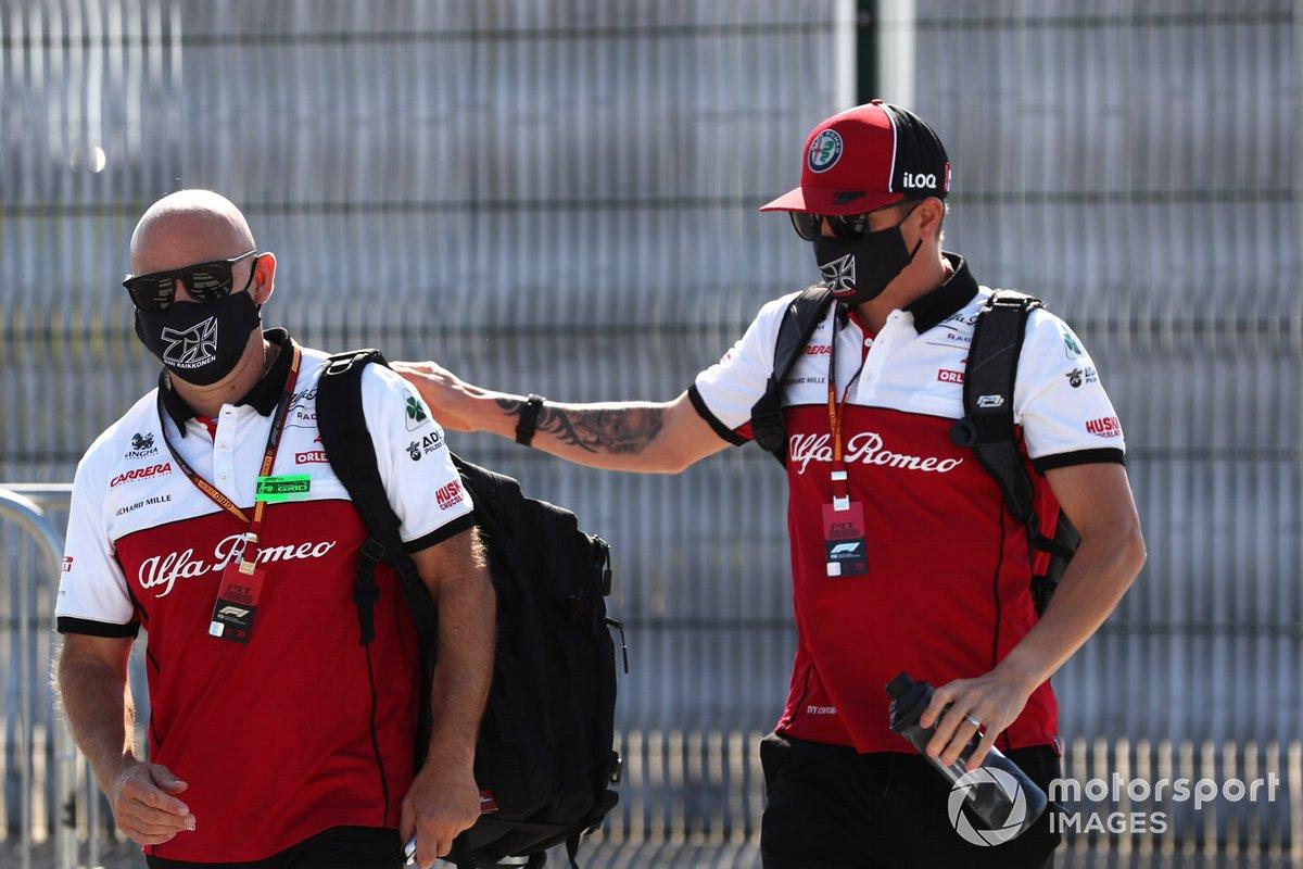 Kimi Raikkonen, Alfa Romeo arriva nel paddock