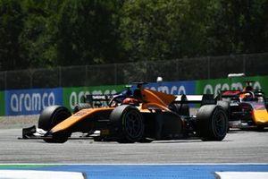 Jack Aitken, Campos Racing, leads Yuki Tsunoda, Carlin