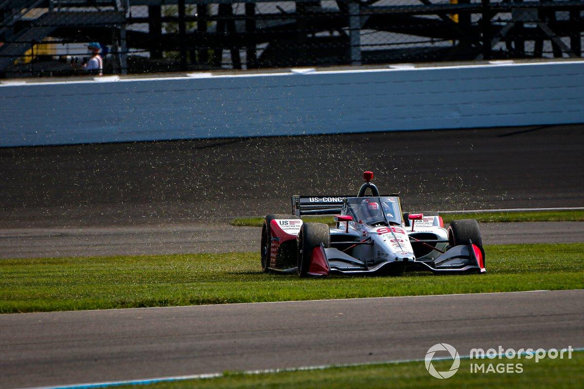 Marco Andretti, Andretti Herta con Marco & Curb-Agajanian Honda finisce fuori dalla pista