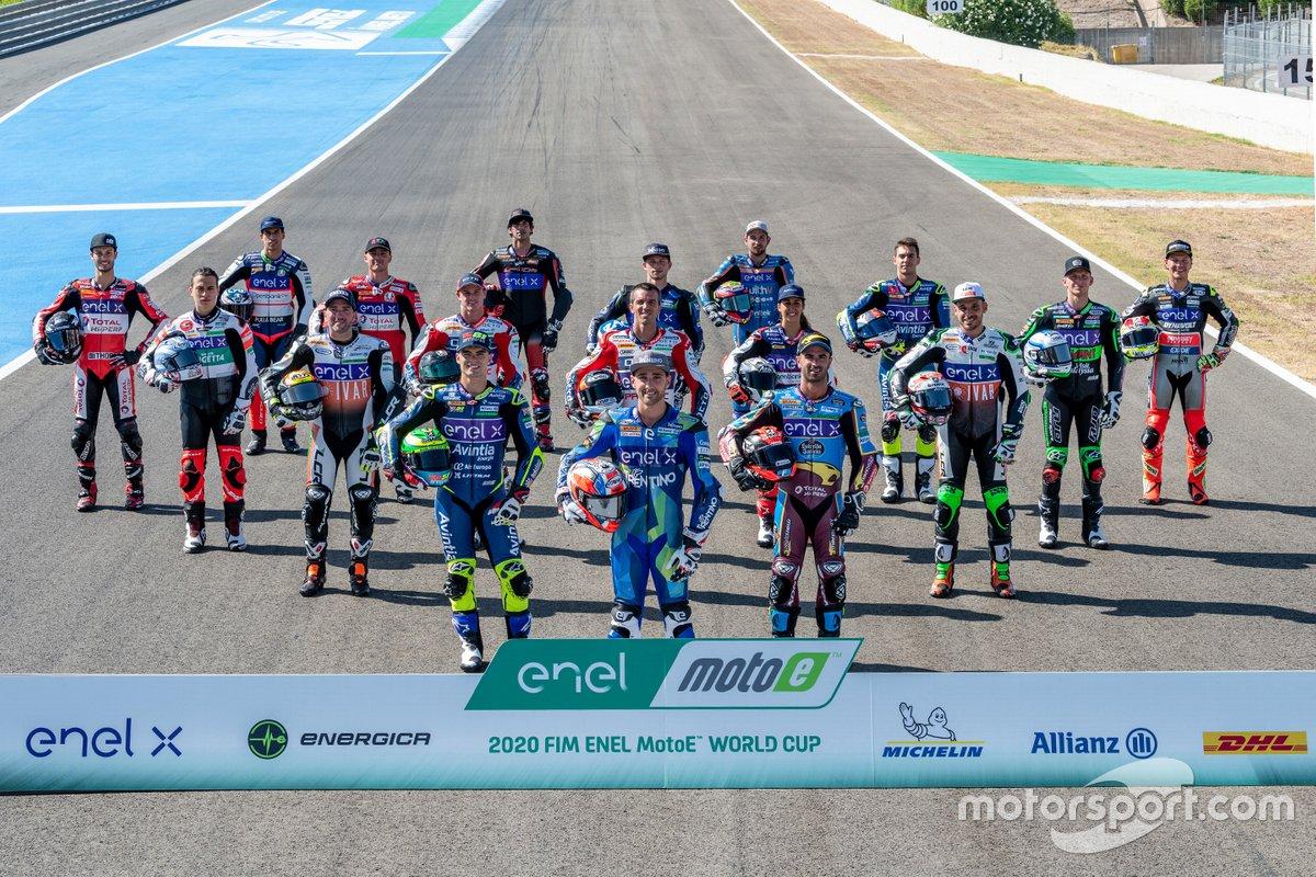 Los pilotos de MotoE de 2020