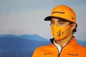 Lando Norris, McLaren in de persconferentie