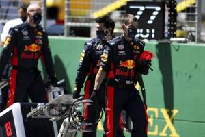 Red Bull team members on the grid