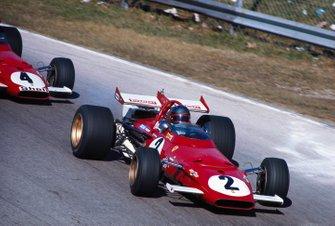 Jacky Ickx, Ferrari 312B devant son coéquipier Clay Regazzoni, Ferrari 312B