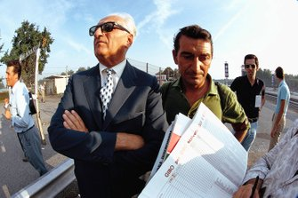 Enzo Ferrari with journalist Franco Lini former team manager of the Scuderia