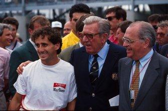 Alain Prost, McLaren, mit Jean-Marie Balestre