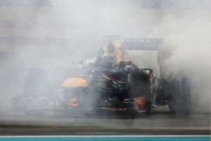 Sebastian Vettel, Red Bull RB9 Renault celebrates his victory