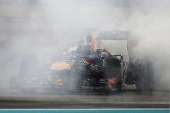 Sebastian Vettel, Red Bull RB9 Renault celebrates his victory