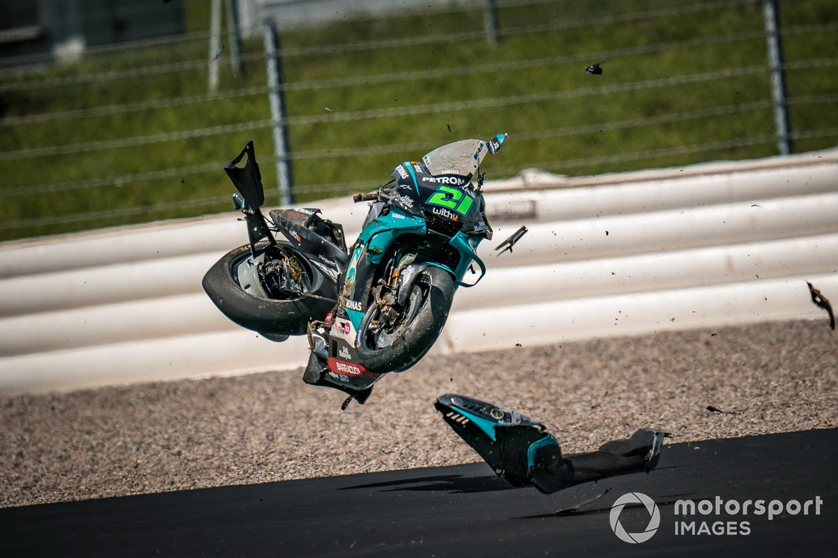 Accidente de Franco Morbidelli, Petronas Yamaha SRT
