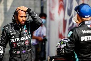 Lewis Hamilton, Mercedes AMG F1, and Valtteri Bottas, Mercedes AMG F1