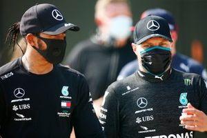 Lewis Hamilton, Mercedes F1 W11 and Valtteri Bottas, Mercedes F1 W11