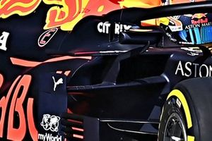 Detalle de los pontones del Red Bull Racing RB16