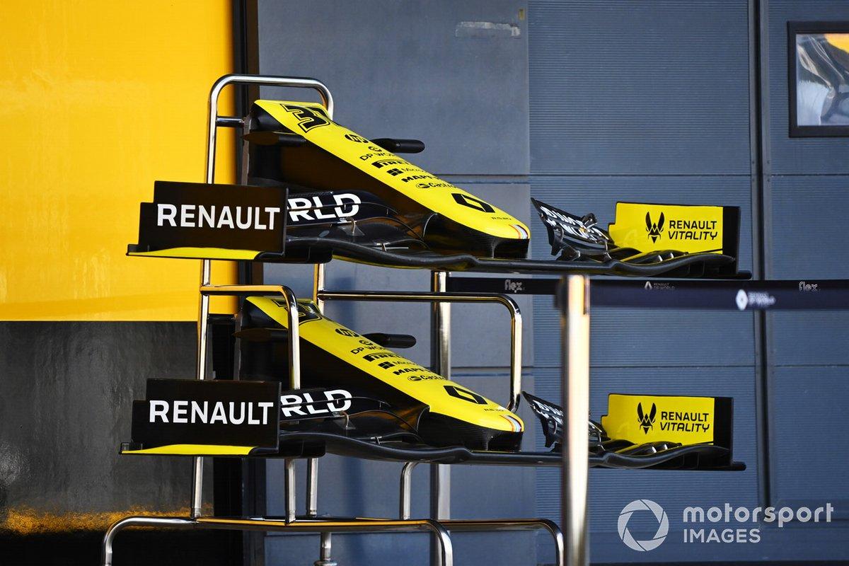 Renault F1 conos de nariz