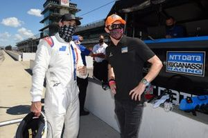 Jimmie Johnson avec Scott Dixon, Chip Ganassi