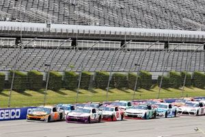 Noah Gragson, JR Motorsports, Chevrolet Camaro Bass Pro Shops/BRCC and Justin Allgaier, JR Motorsports, Chevrolet Camaro Hellmann's Drizzle Sauce