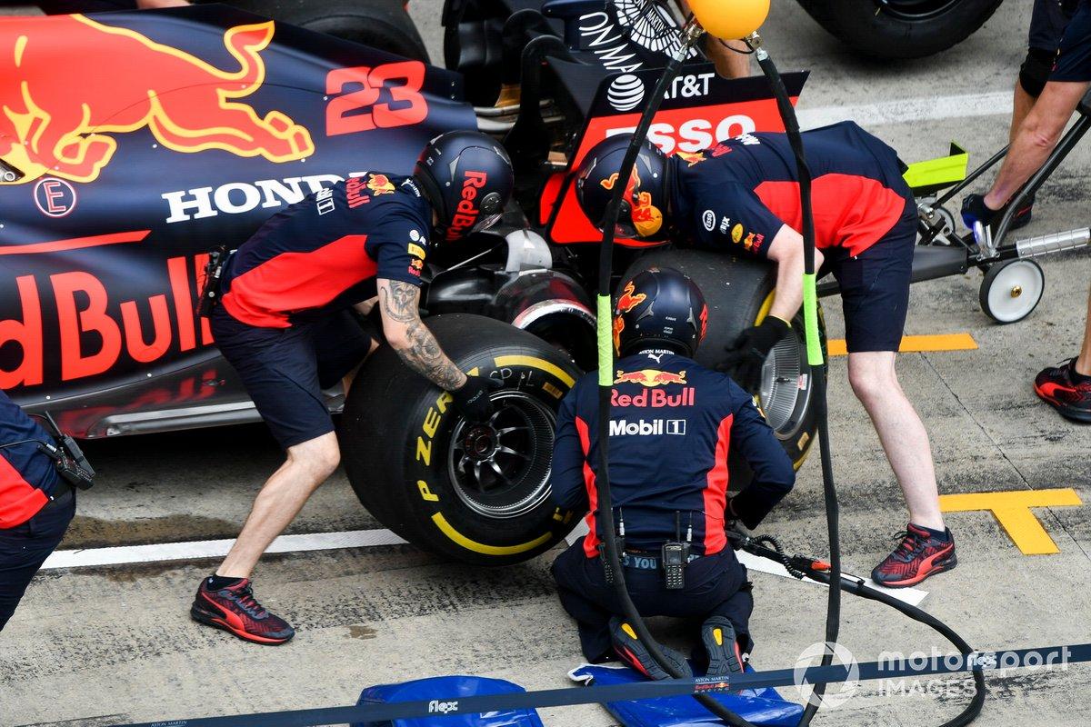 Red Bull Racing practica pitstops