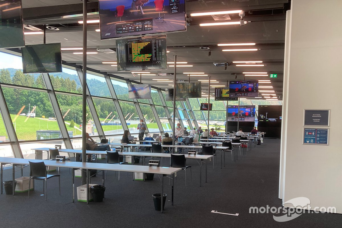 Sala de prensa del Red Bull Ring