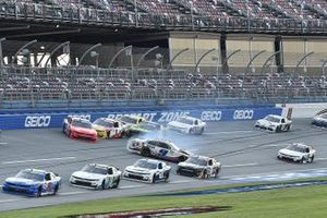 Noah Gragson, JR Motorsports, Chevrolet Camaro Hellmann's Drizzle Sauce spins.