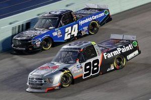 Grant Enfinger, ThorSport Racing Ford, Chase Elliott, GMS Racing Chevrolet