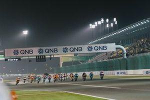 Start zum Moto2-Rennen in Doha 2020