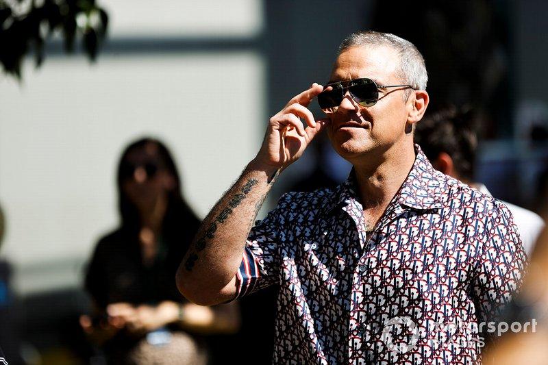 El cantante Robbie Wiliams