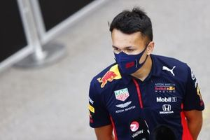 Alex Albon, Red Bull Racing, gives an interview