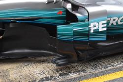 Mercedes AMG F1 W08, sidepod inlet