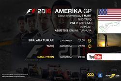 F1 2016 Sanal Turnuva Amerika GP