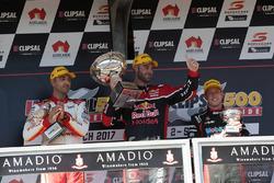 Podium: race winner Shane van Gisbergen, Triple Eight Race Engineering Holden, second place Fabian C