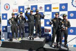 Podio SGTCup, Desideri-Necchi (Antonelli Motorsport,Lamborghini Huracan S.GTCup #104), Vainio-Tujula