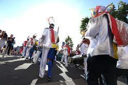 Musikkapelle bei der Fahrerparade