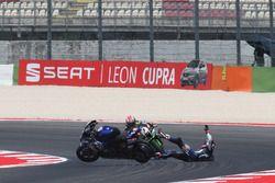 Michael van der Mark, Pata Yamaha, crash