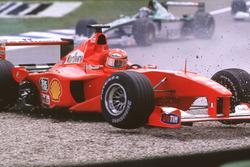 Crash, Michael Schumacher, Ferrari F1 2000