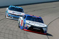 Ryan Preece, Joe Gibbs Racing Toyota and Joey Gase, Jimmy Means Racing Chevrolet