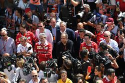 Maurizio Arrivabene, Ferrari-Teamchef, Sergio Marchionne, Ferrari-Präsident, Mattia Binotto, Ferrari