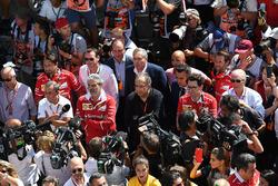 Maurizio Arrivabene, Ferrari Team Principal, Sergio Marchionne, CEO FIAT, Mattia Binotto, Ferrari Ch