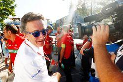Alejandro Agag, Formula E CEO, celebrates with the Abt Audi team