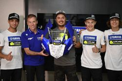 Lin Jarvis, Yamaha Factory Racing Managing Director with the participants of the Yamaha VR46 Master