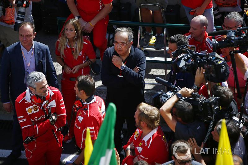 Maurizio Arrivabene,, Ferrari, Sergio Marchionne, CEO, Fiat Chrysler başkanı, Ferrari, Sebastian Vettel, Ferrari