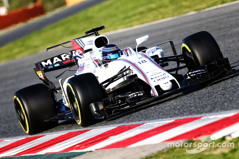 13º Lance Stroll, Williams FW40, 1m20.335s (blandos)