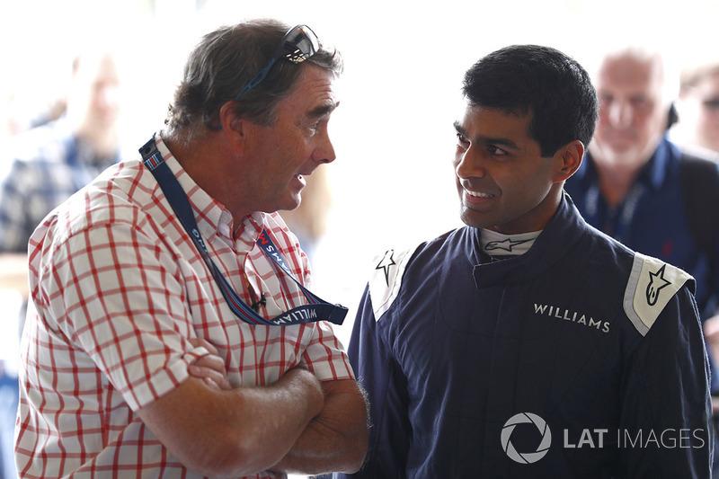 Nigel Mansell avec Karun Chandhok