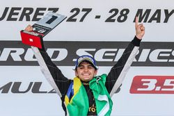 Podium: race winner Pietro Fittipaldi, Lotus