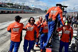 Crew of Joe Gibbs Racing Toyota celebrating