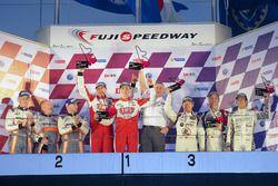 LMP3-Podium: 1. #26 Tockwith Motorsports, Ligier JSP3: Nigel Moore, Phil Hanson; 2. #4 ARC Bratislav